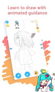 How to draw anime & manga with tutorial - DrawShow screenshot 3