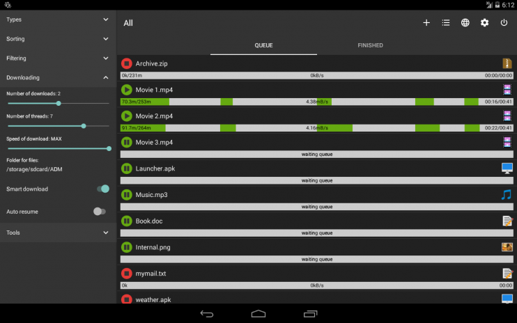 Advanced Download Manager 7 6 Download APK for Android - Aptoide