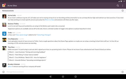 Slack screenshot 2