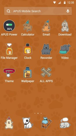 Cartoon Tiny Puppy-APUS Launcher stylish theme 503 Download
