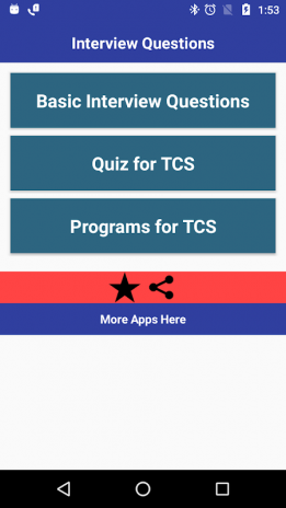 Interview Preparation for TCS 1 0 Download APK for Android