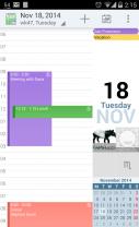 aCalendar - Android Calendar Screenshot