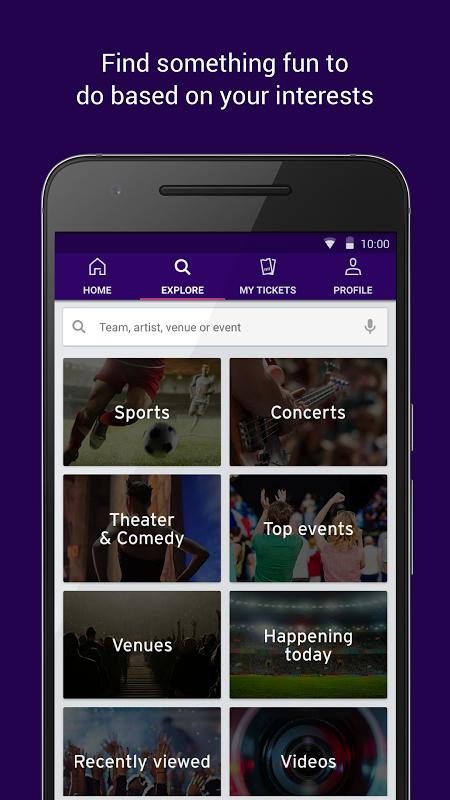 StubHub - Live Event Tickets screenshot 2