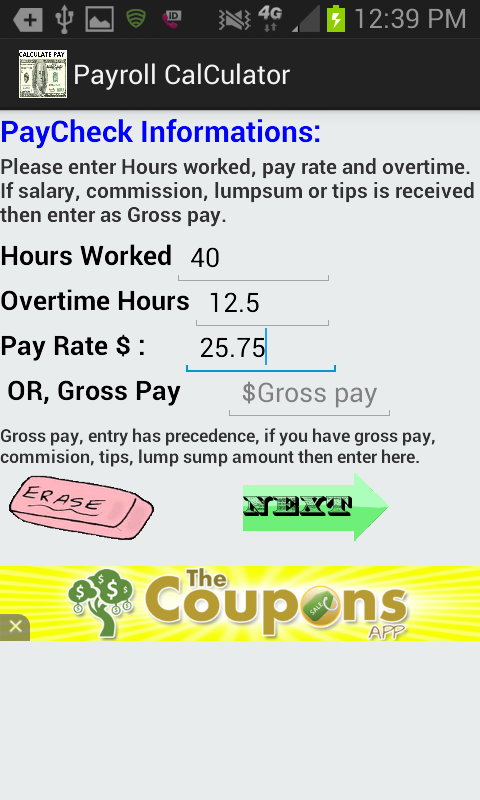 Screenshot Di Accurate Paycheck Calculator 1 ...