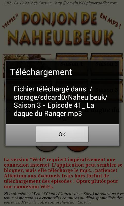SAISON DONJON DE GRATUITEMENT 3 NAHEULBEUK LE TÉLÉCHARGER MP3