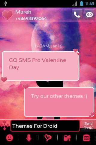 Go Sms Pro Valentinstag Screenshot 1 Go Sms Pro Valentinstag Screenshot 2  ...