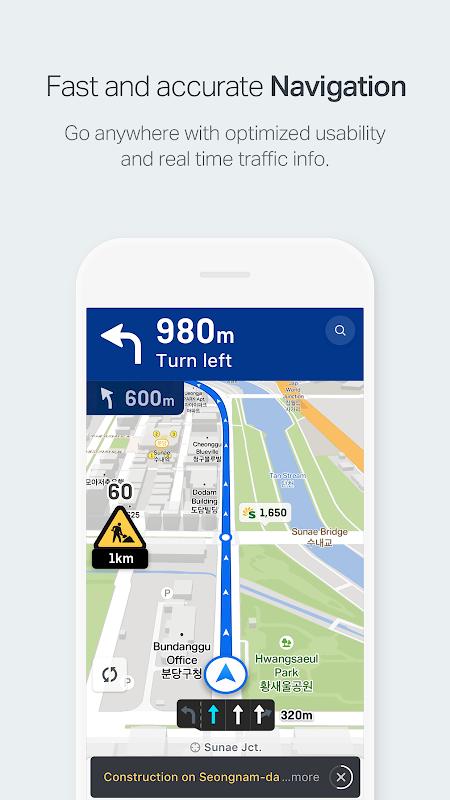 NAVER Map, Navigation screenshot 2