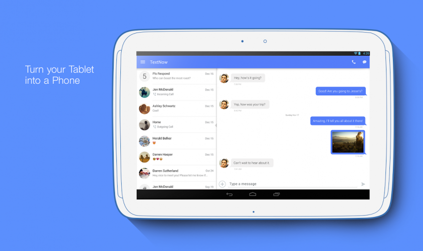 TextNow - Free US Phone Number screenshot 1