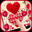 Red Valentine Hearts Keyboard Theme