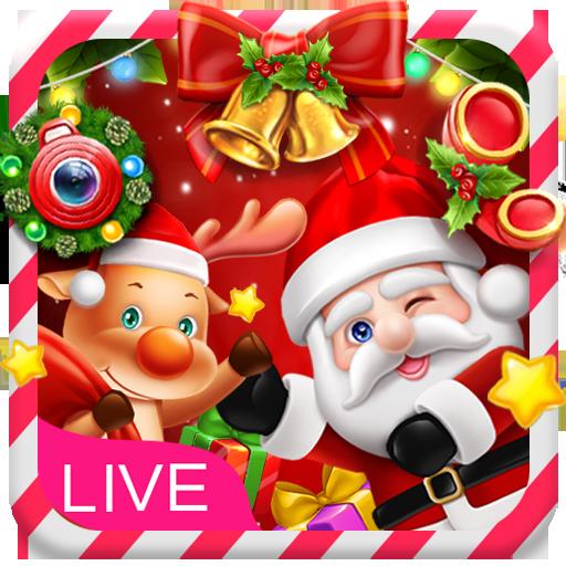 3D Happy Christmas Santa Theme