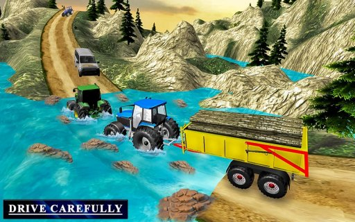 Heavy Tractor Trolley Driver Simulator Game screenshot 2