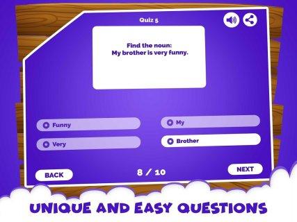 English Grammar Noun Quiz Game screenshot 1