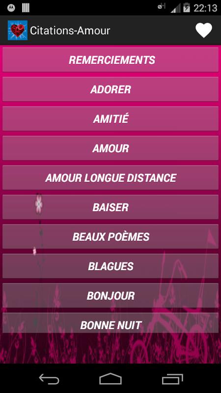 Citations et Poèmes d'Amour screenshot 1