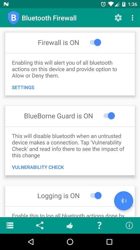 Bluetooth Firewall screenshot 1
