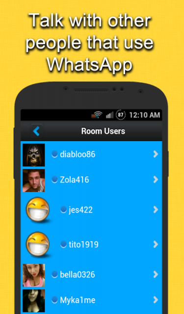 Whatsapp chatroom
