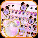 Pink Galaxy Minny Free Keyboard Theme