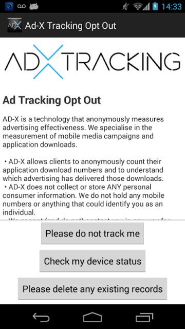 opt out tracking
