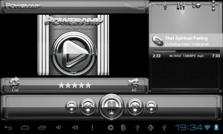 Poweramp skin Silver Glas luxe 3 10 Download APK for Android