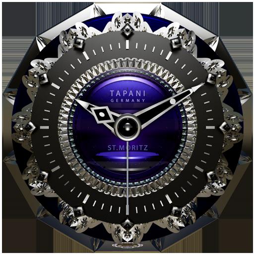 St. Moritz Luxury Clock Widget