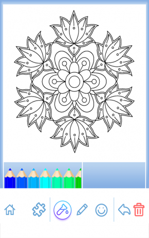 Flower Mandala Coloring Book Screenshot 1 2