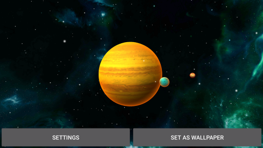 3D Solar System LWP screenshot 2