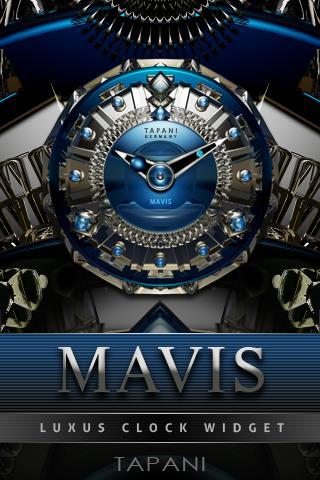 Mavis Luxury Clock Widget screenshot 1
