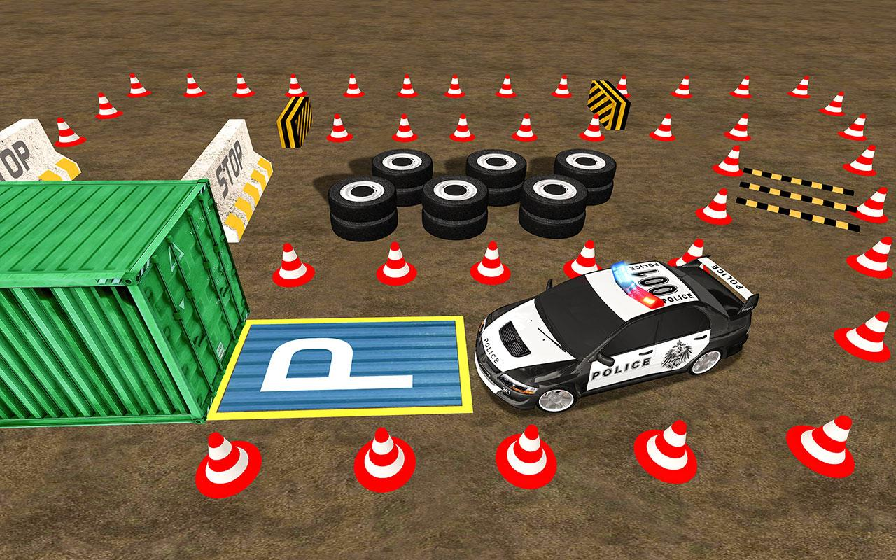 NYPD Smart Police Car Parking 3D- 15MB Games screenshot 1