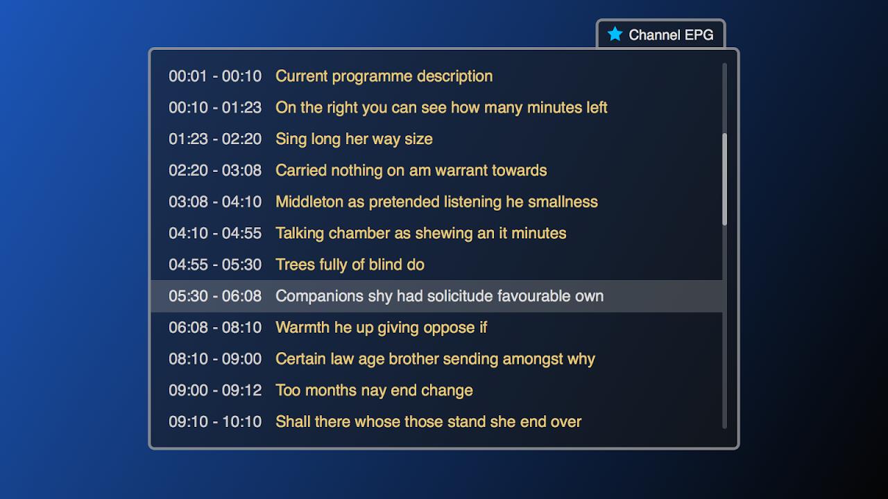 Smart IPTV screenshot 1
