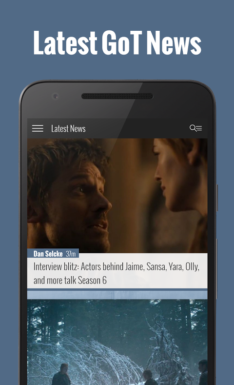 Game of Thrones News App - WiC screenshot 1