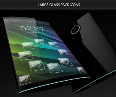 Glass theme & glass icon pack + amoled wallpapers screenshot 2