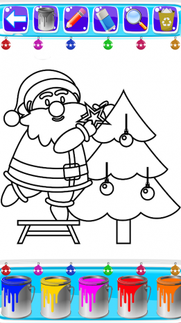 christmas coloring book pages santa coloring game screenshot 1