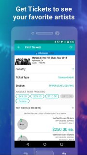 Bandsintown Concerts screenshot 1