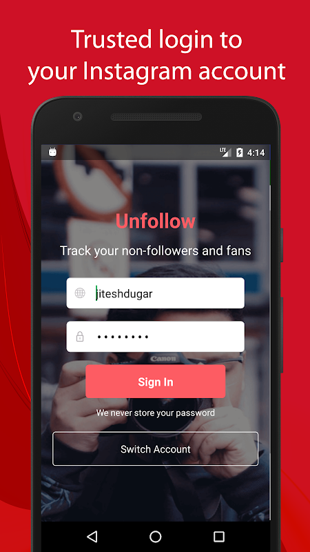 Unfollow for Instagram - Non followers & Fans screenshot 1