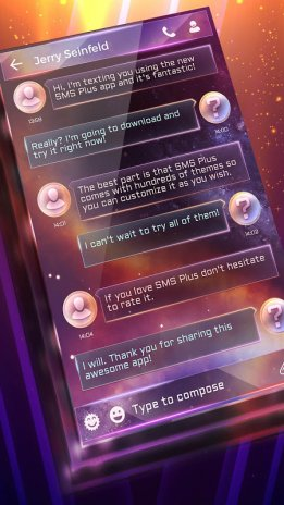 Free Colorful Galaxy SMS 1 0 10 Download APK for Android