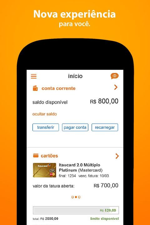Banco Itaú screenshot 1