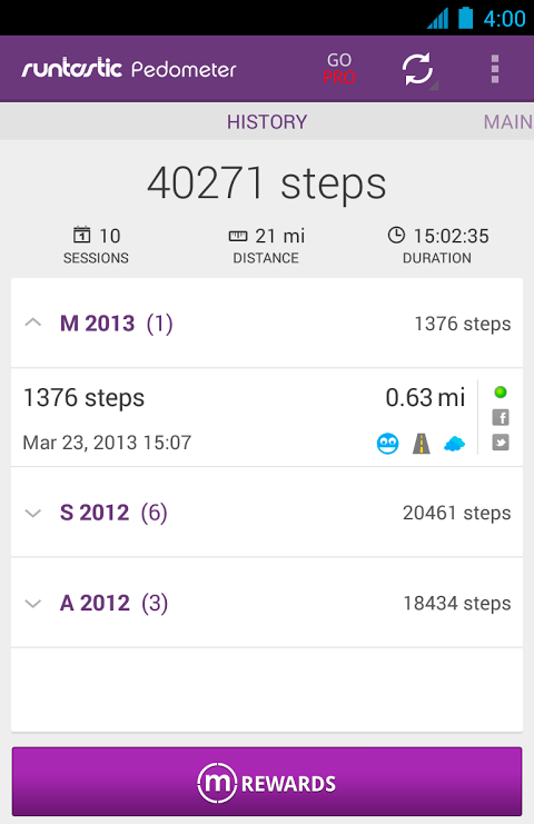 Pedometer screenshot 6