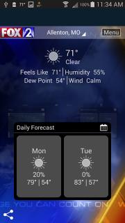 Fox 2 St Louis Weather screenshot 1
