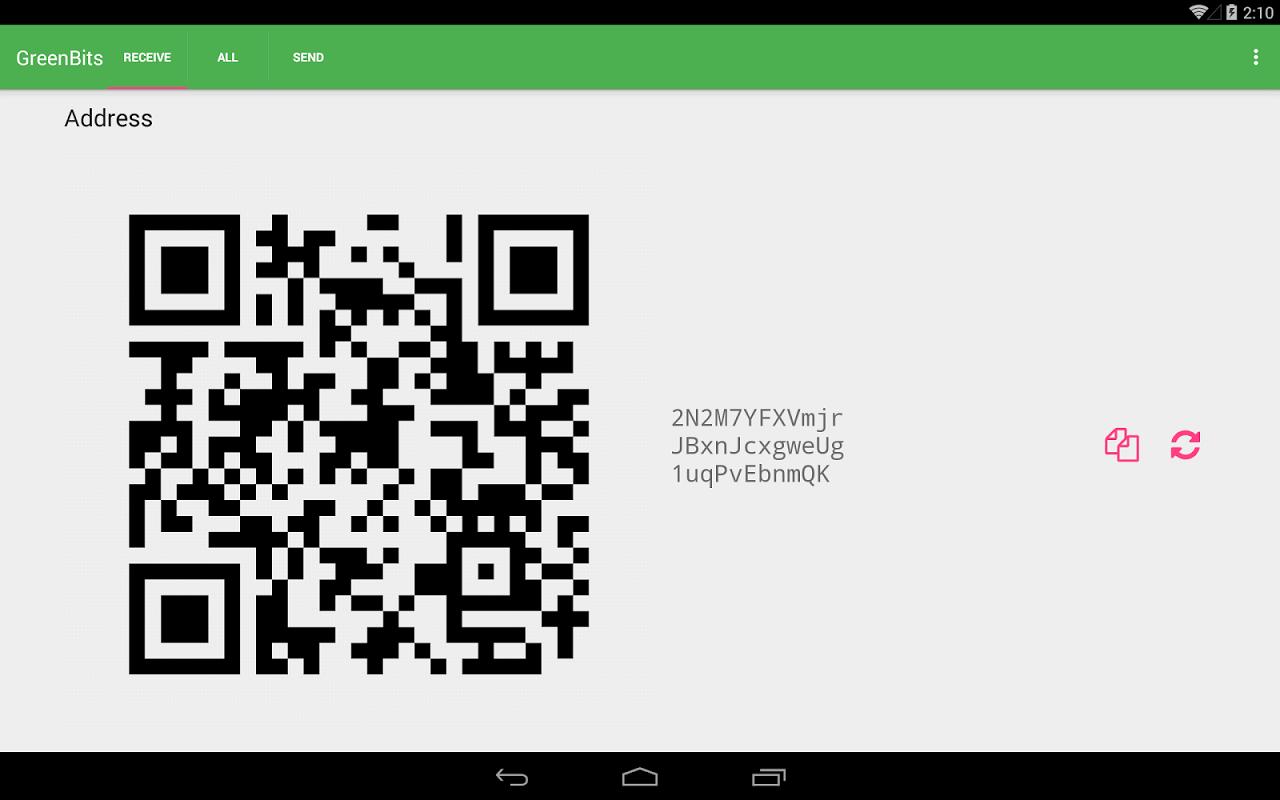 GreenBits Bitcoin Wallet screenshot 2