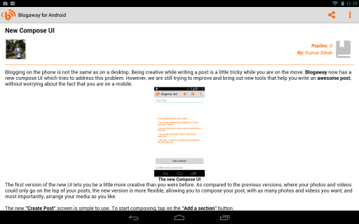 Blogaway for Android (Blogger) screenshot 6