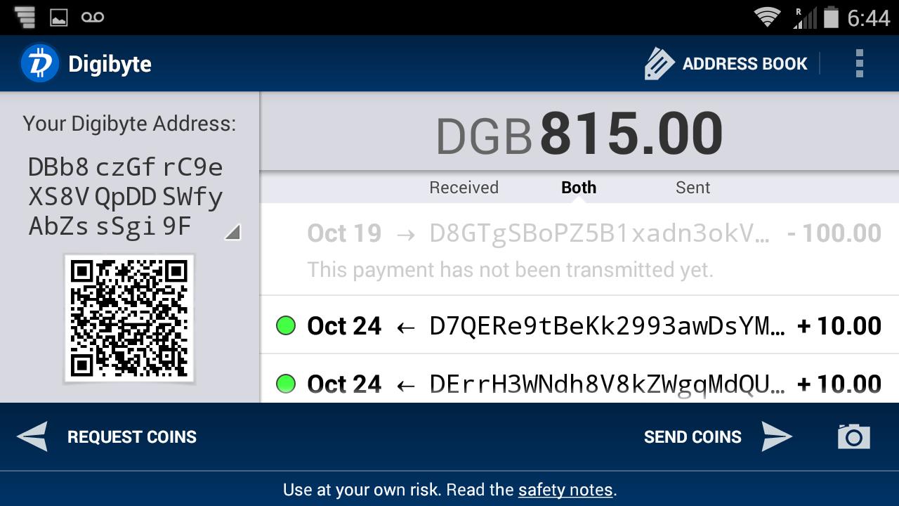 DigiByte Wallet screenshot 2