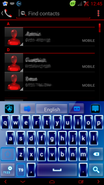 Blue Neon GO Keyboard theme | Download APK for Android - Aptoide
