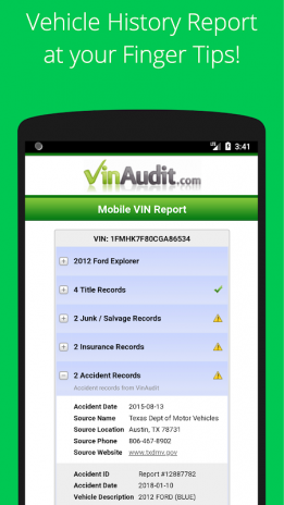 VIN Check Report + History + Used Cars Buying Tool 6 1 0 7