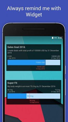 trackr goal tracker widget 1 0 1 download apk for android aptoide