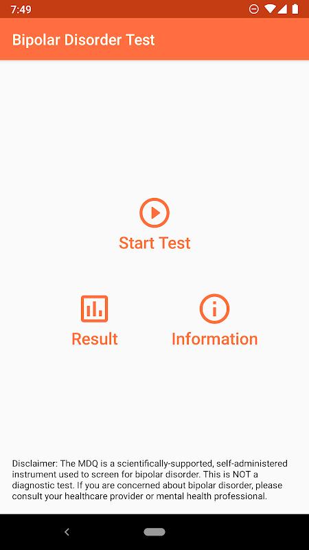 Bipolar Test screenshot 1