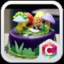 animal birthday cake  launcher theme icon