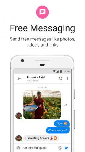 Messenger Lite: бесплатные звонки и сообщения screenshot 4