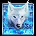 Blue Fire Wolf Keyboard Theme