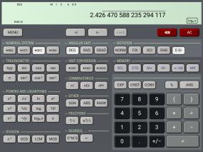 HiPER Scientific Calculator Screenshot