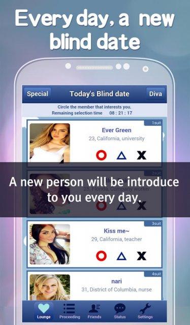 Blind dating app