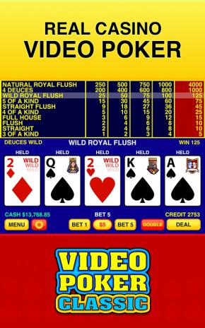 deuces wild video poker автомат